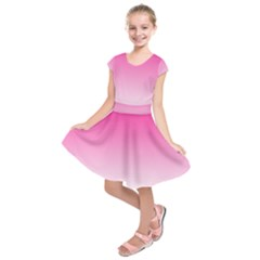 Gradients Pink White Kids  Short Sleeve Dress by Mariart