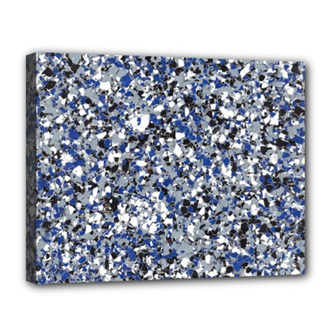 Electric Blue Blend Stone Glass Canvas 14  X 11  by Mariart