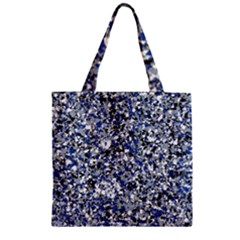Electric Blue Blend Stone Glass Zipper Grocery Tote Bag by Mariart