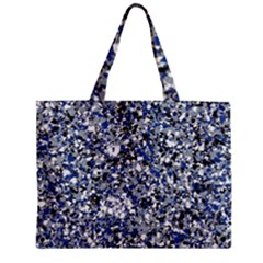 Electric Blue Blend Stone Glass Zipper Mini Tote Bag by Mariart