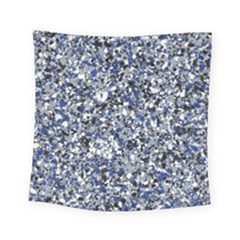 Electric Blue Blend Stone Glass Square Tapestry (small) by Mariart