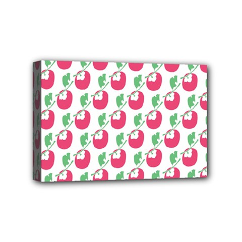 Fruit Pink Green Mangosteen Mini Canvas 6  X 4  by Mariart