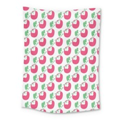 Fruit Pink Green Mangosteen Medium Tapestry by Mariart