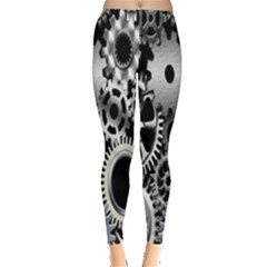Gears Technology Steel Mechanical Chain Iron Leggings  by Mariart