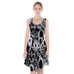 Gears Technology Steel Mechanical Chain Iron Racerback Midi Dress by Mariart