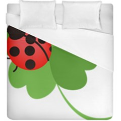 Insect Flower Floral Animals Green Red Duvet Cover (king Size) by Mariart