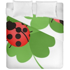 Insect Flower Floral Animals Green Red Duvet Cover Double Side (california King Size) by Mariart