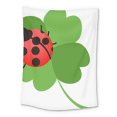 Insect Flower Floral Animals Green Red Medium Tapestry by Mariart