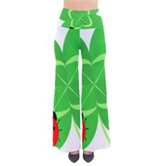 Insect Flower Floral Animals Green Red Line Pants by Mariart