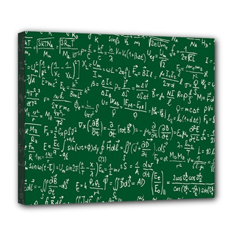 Formula Number Green Board Deluxe Canvas 24  X 20   by Mariart