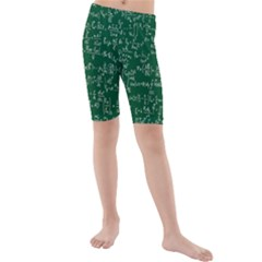 Formula Number Green Board Kids  Mid Length Swim Shorts by Mariart
