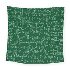 Formula Number Green Board Square Tapestry (large) by Mariart