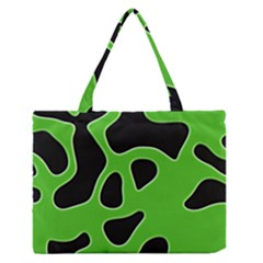 Abstract Shapes A Completely Seamless Tile Able Background Medium Zipper Tote Bag by Nexatart