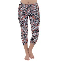 Hurley Mix Electric Electric Red Blend Capri Winter Leggings  by Mariart