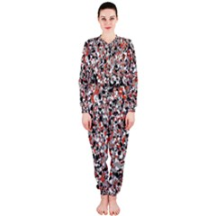 Hurley Mix Electric Electric Red Blend Onepiece Jumpsuit (ladies)