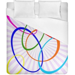 Abstract Background With Interlocking Oval Shapes Duvet Cover (california King Size) by Nexatart