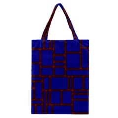 Line Plaid Red Blue Classic Tote Bag by Mariart