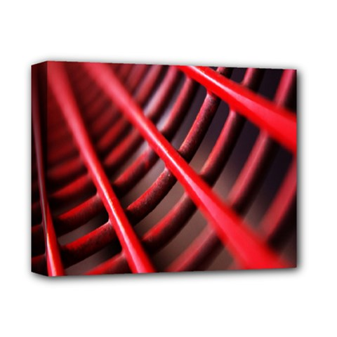 Abstract Of A Red Metal Chair Deluxe Canvas 14  X 11  by Nexatart