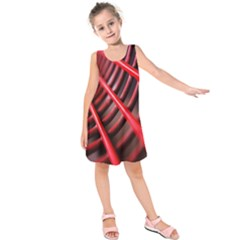 Abstract Of A Red Metal Chair Kids  Sleeveless Dress