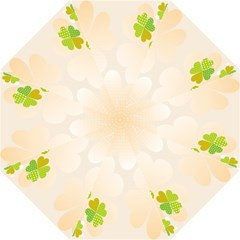 Leaf Polka Dot Green Flower Star Folding Umbrellas