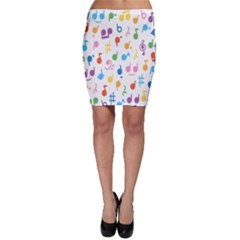 Musical Notes Bodycon Skirt by Mariart