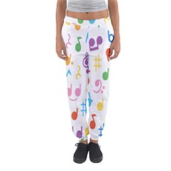 Musical Notes Women s Jogger Sweatpants