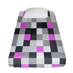 Pink Grey Black Plaid Original Fitted Sheet (single Size) by Mariart