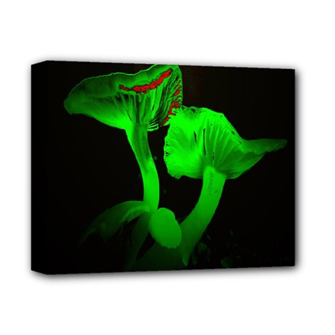 Neon Green Resolution Mushroom Deluxe Canvas 14  X 11  by Mariart