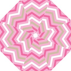 Pink Red White Grey Chevron Wave Hook Handle Umbrellas (small) by Mariart