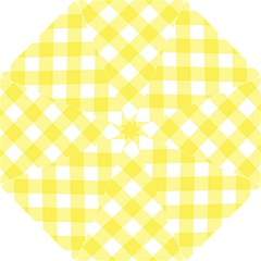 Plaid Chevron Yellow White Wave Hook Handle Umbrellas (small) by Mariart
