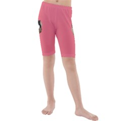 Minimalism Cat Pink Animals Kids  Mid Length Swim Shorts by Mariart