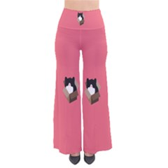 Minimalism Cat Pink Animals Pants by Mariart