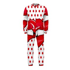 Sexy Lips Red Polka Dot Onepiece Jumpsuit (kids) by Mariart