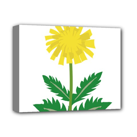 Sunflower Floral Flower Yellow Green Deluxe Canvas 14  X 11  by Mariart