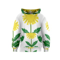 Sunflower Floral Flower Yellow Green Kids  Pullover Hoodie by Mariart