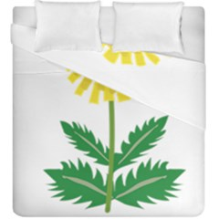 Sunflower Floral Flower Yellow Green Duvet Cover Double Side (king Size) by Mariart