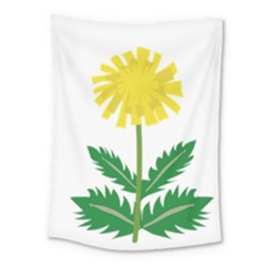 Sunflower Floral Flower Yellow Green Medium Tapestry by Mariart