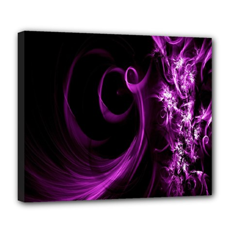 Purple Flower Floral Deluxe Canvas 24  X 20   by Mariart
