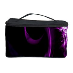 Purple Flower Floral Cosmetic Storage Case by Mariart