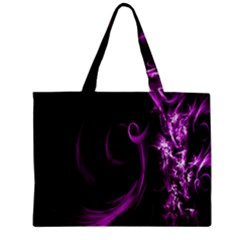 Purple Flower Floral Zipper Mini Tote Bag by Mariart