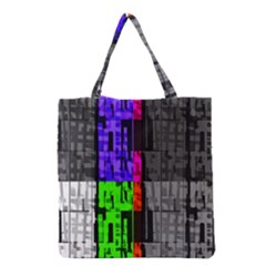 Repeated Tapestry Pattern Grocery Tote Bag by Nexatart
