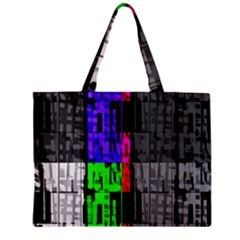 Repeated Tapestry Pattern Zipper Mini Tote Bag by Nexatart