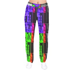 Repeated Tapestry Pattern Drawstring Pants by Nexatart