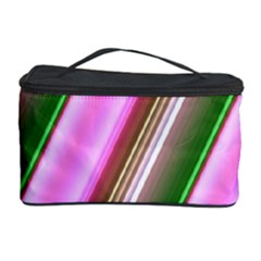 Pink And Green Abstract Pattern Background Cosmetic Storage Case by Nexatart