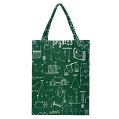 Scientific Formulas Board Green Classic Tote Bag by Mariart