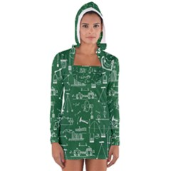Scientific Formulas Board Green Women s Long Sleeve Hooded T Shirt by Mariart