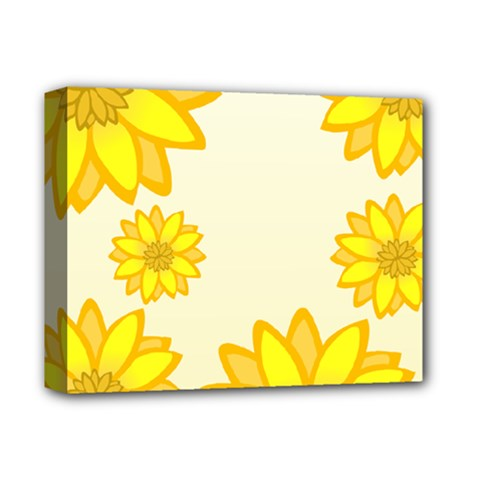 Sunflowers Flower Floral Yellow Deluxe Canvas 14  X 11  by Mariart
