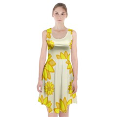 Sunflowers Flower Floral Yellow Racerback Midi Dress by Mariart