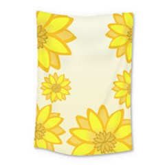Sunflowers Flower Floral Yellow Small Tapestry by Mariart