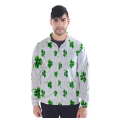 Leaf Green White Wind Breaker (men)